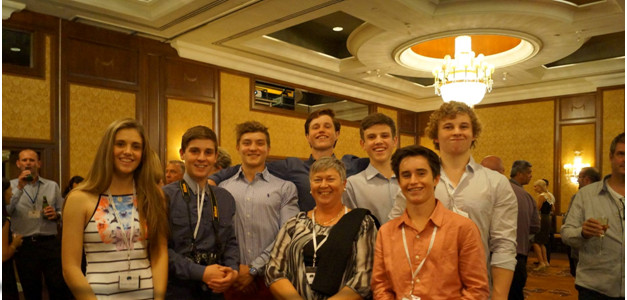 Back row, left to right: Sarah Stuart, Liam Kendell, Andrew Nicholas, Billy Neville, Zac Stuart, Tom Kendell, Front Row: Deidre Fischer, Max Neville
