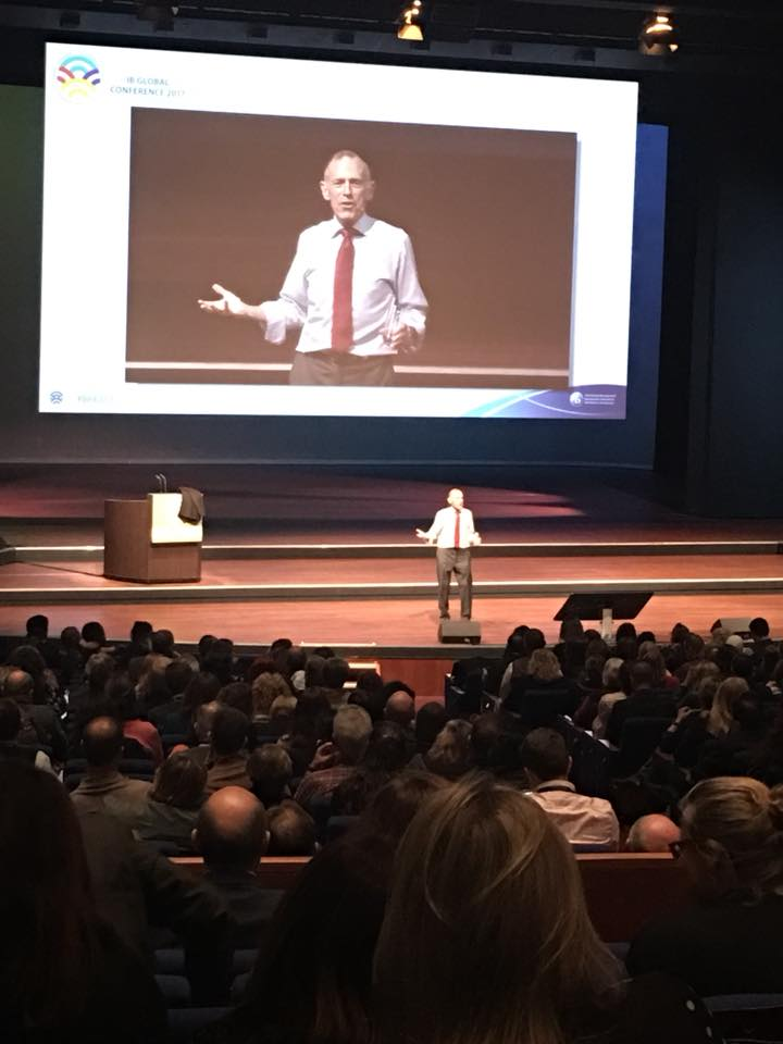 Tony Wagner during his keynote speech
