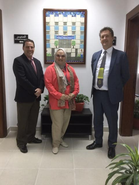 With Superintendent Dr. Brian Gardner and Asst Superintendent Joan Khaja at the Universal American School, Kuwait