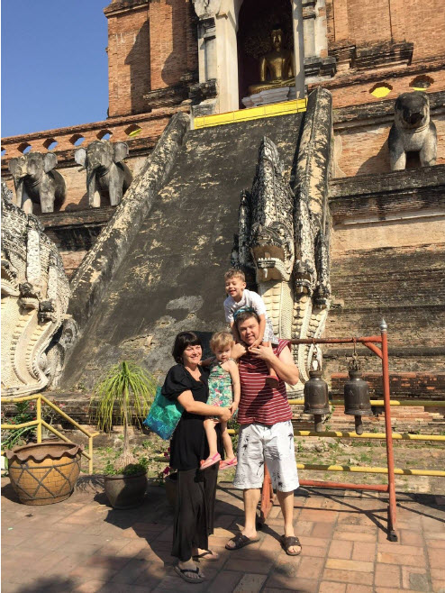 The Hurst family in Chiang Mai
