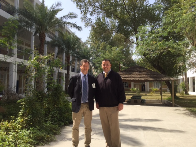 With High School Principal Michael Murphy at the American School Kuwait