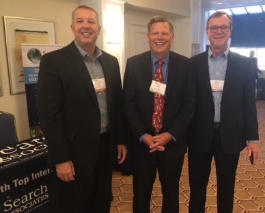 From left: Executive Director Dereck Rhoads, Senior Associate Bob Imholt, and Deputy Director Paul Poore