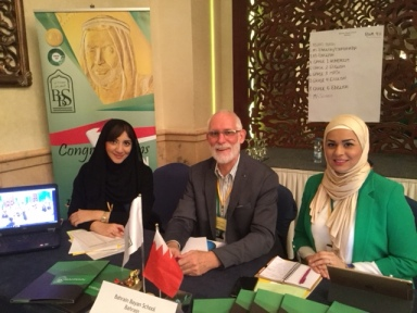From Left: Bahrain Bayan School's HR Manager Fatima Al Banna , Curriculum & Professional Learning Coordinator Peter Ducket, and MS Vice Principal Safa Khalaf