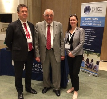 From left: Bill Turner, Chairman of the Board and ESOL Founder Walid AbuShakr; and Alison Turner
