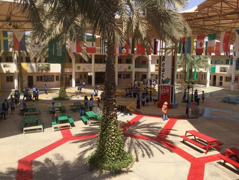Courtyard at the British International School of Riyadh