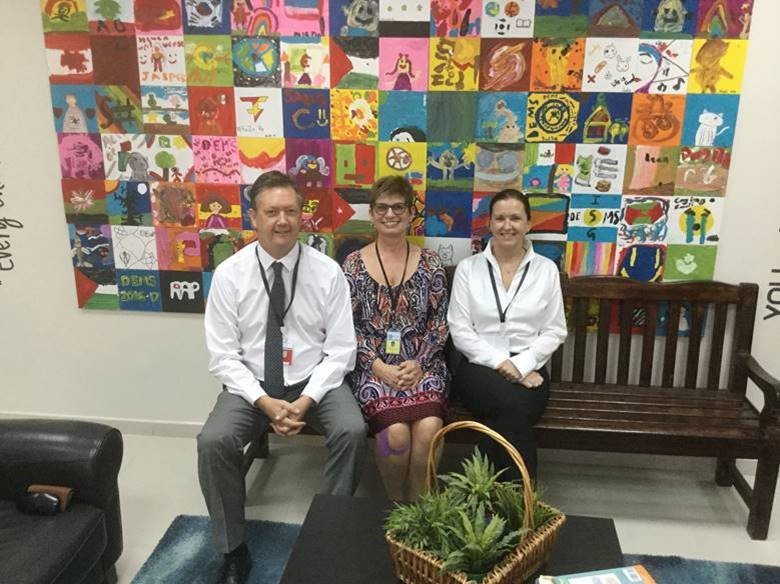 Visiting with Principal Jana Barnhouse of Dhahran Elementary / Middle (American) School, International Schools Group